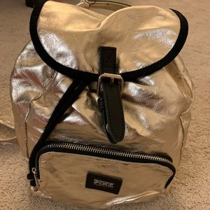 Small gold PINK backpack